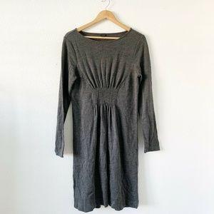 Ann Taylor Gray Wool Blend Knit Long Sleeve Dress